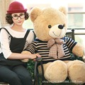 80cm Giant Large Size Retro sweater teddy bear plush toys 6 style Lowest Price Birthday gifts Christmas