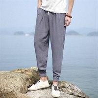 Summer Fashion Ankle Length Pants Men Cool Thin Pencil Pant Plus Size M XXXXL Elastic Waist