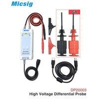 Micsig осциллограф 5600 в 100 МГц высокое напряжение дифференциал зонд DP20003 комплект 3.5ns время подъема 200X/2000X скорость затухания