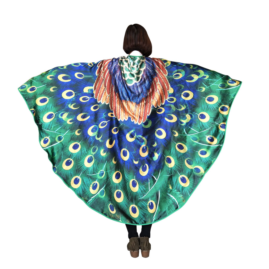 SPECIAL Breezy Peacock Costume Adult Wing Dance Performances Prop Soft Sheer Wings Wedding Shawl Nymph Pixie Costumes For Adults