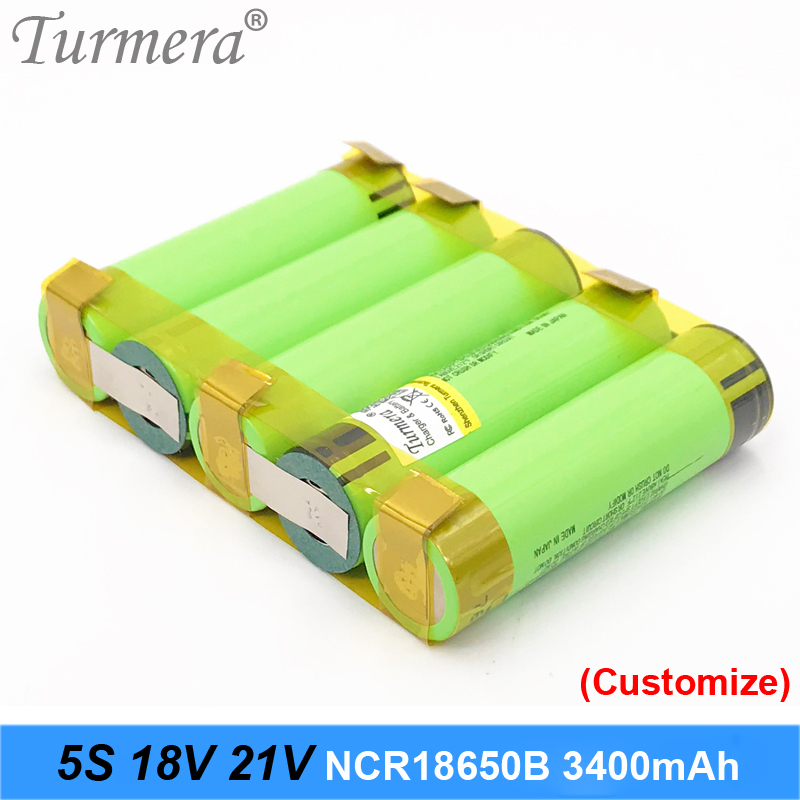 18650 battery 3400mah ncr18650b 12.6v 16.8v 21v battery for screwdriver battery weld soldering strip customize battery Turmera