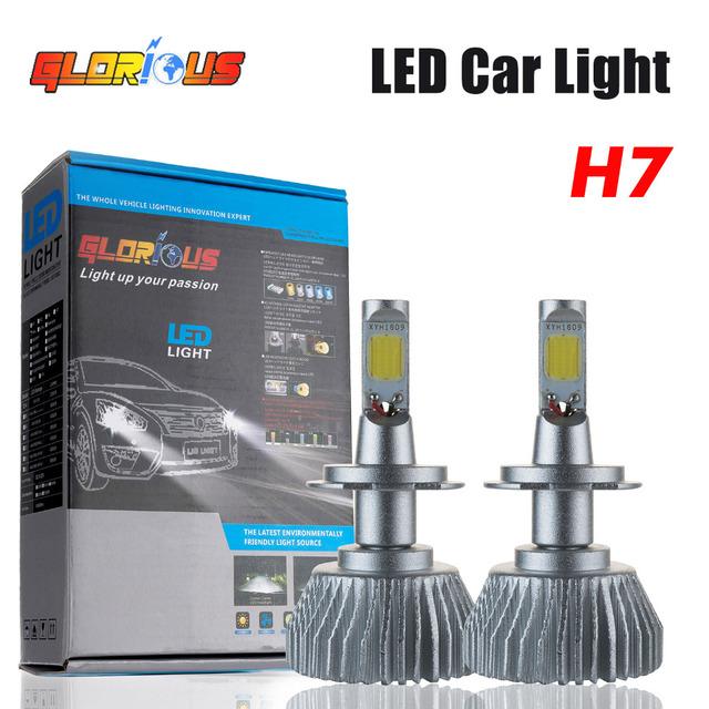 Vendas Hot Car Faróis LED H1 H3 H4 H7 H11 9005 9006 64 W Carro 4400lm Frente Auto Bulbo Automóveis Farol 6000 K Iluminação
