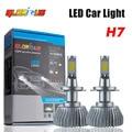 Ventas calientes Del Coche H7 Faros LED H1 H3 H4 H11 9005 9006 64 W 4400lm Delantero Auto Faro 6000 K Iluminación Del Coche Bombilla de Automóviles
