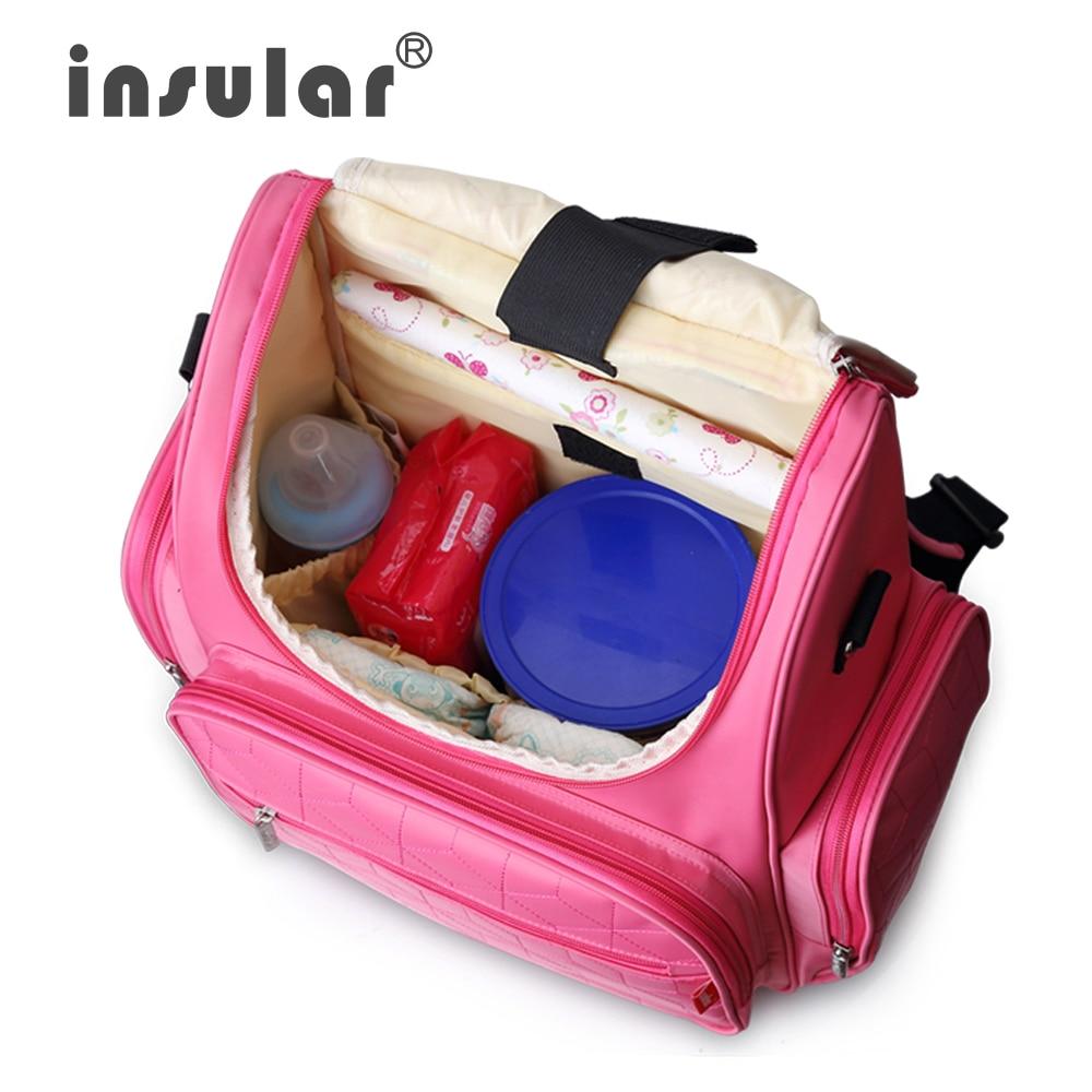5 färger valfri babyblöja väska nyfödda barnvagn väskor hög - Blöjor och potträning - Foto 5