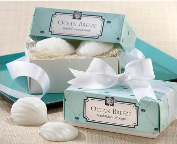 30sets 60pcs White Shell Shape Soap Baby Shower Party Favors Wedding Gifts For Guests Wedding Souvenirs