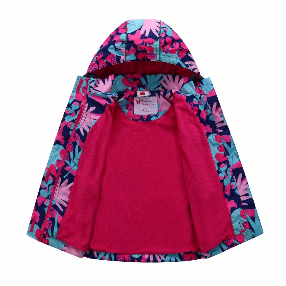 c9112e2fb Warm Baby Girls Jackets Waterproof Windproof Child Coat Polar Fleece ...