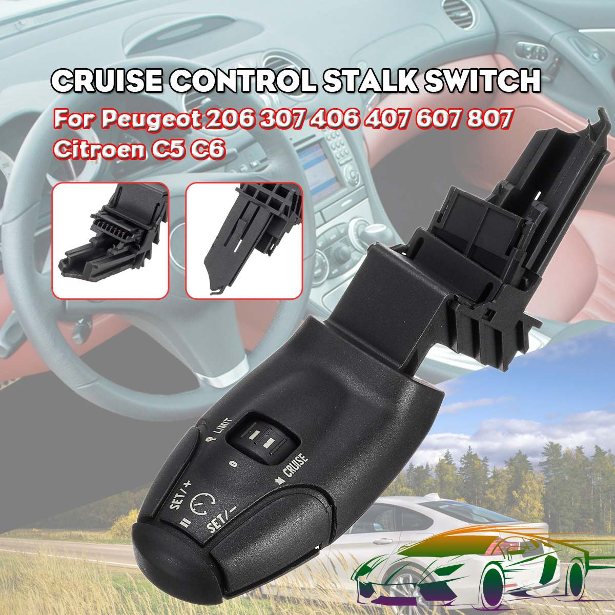 Cruise Control Switch Car Switch For <font><b>Peugeot</b></font> 206 3008 307 308 <font><b>406</b></font> 407 607 807 For Citroen C5 C6 C8 Car image