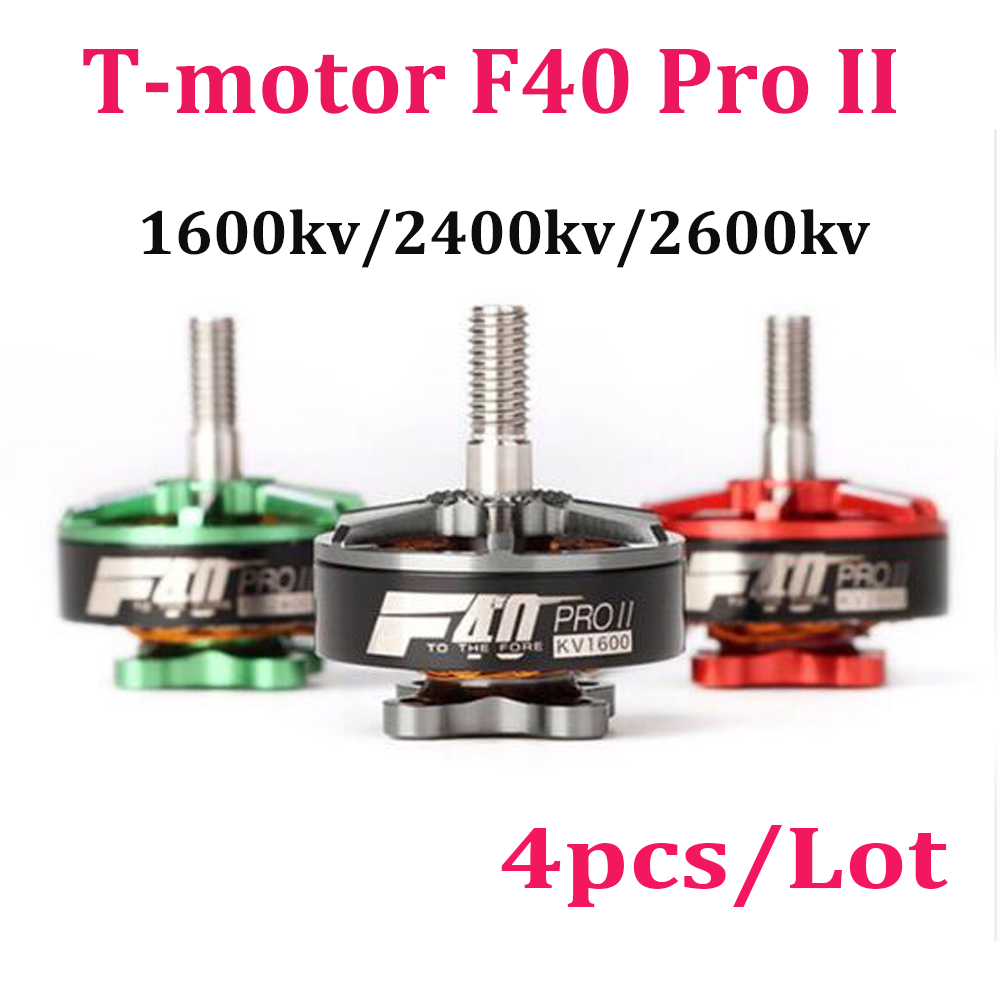 T-motor F40 PRO II 1600KV 2400KV 2600KV 3-4S Brushless Motor for RC Multirotor FPV Racing Drone Gray Green Red t motor mn1804 2400kv brushless motor for rc quadcopter multirotor