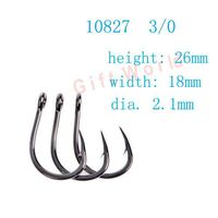100pcs 10827 Size 3 0 Stainless Steel Ocean Round Fishing Hooks Sharpened Fish Hook Tackle