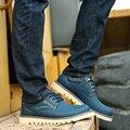 4 Cores Homens Outono Ankle Boots Botas de Couro Rachado da Vaca Sapatos Flats Rendas Até Botas de Trabalho dos homens Zapatos Hombre ZNPNXN 2016