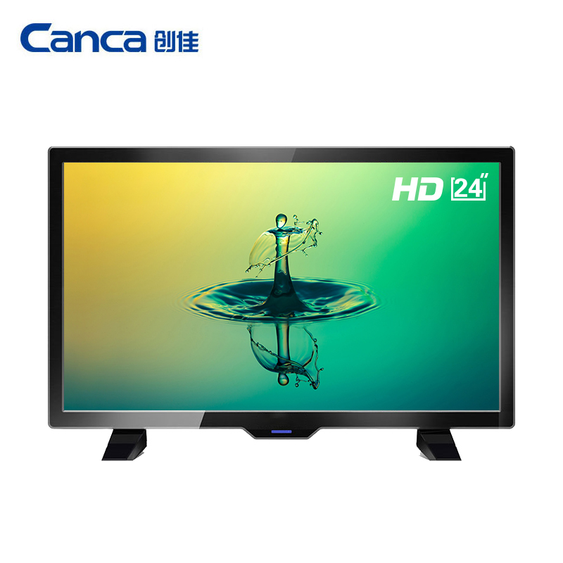 Free Shipping Canca 24inches TV Full HD HDMI USB AV RF VGA Multi Interface Monitor Eyecare