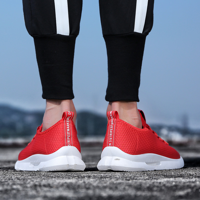 Air Confortable 195 De Mesh Occasionnels Sneakers rouge Fly Léger Noir Xx 2018 Respirant Armure Hommes D'été Mâle Chaussures Mode Marche blanc 6q1gq8Bx