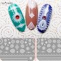 1 лист Пейсли 3D Nail Art Наклейки Dreamcatcher Ногтей Наклейки Мандара Ногтей Наклейки Луна Кружева Ногтей Переводные Картинки