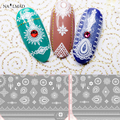 1 sheet Paisley 3D Nail Art Stickers Dreamcatcher Nail Sticker Mandara Nail Stickers Moon Lace Nail Decals