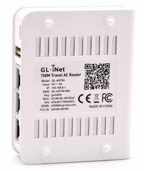 Gl。inet GL-AR750 802.11ac 750 150mbpsのミニワイヤレスwifiルータデュアルバンドopenvpn旅行5 ghz lede openwrtルーターusb +マイクロsdスロット