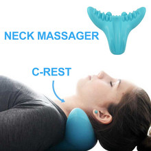 100% Polyurethane Acupressure Massage Pillow C-Rest Neck Cervical Shoulder Muscle Relaxer High Density Memory Foam Pillow Tools(China)