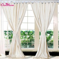 curtains Tab Top Linen Lace Crochet Curtain 1.8cm width Valance Drape Hollow Window pastoral with tassels
