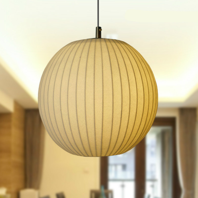 New High End Hand Knitted Chinese Silk Ball Led E27 Pendant Light For Living Room Restaurant Dining Room Dia 26/32/40/48cm 1022 high quality silk 35mm 200m blank washing mark high end laundering tags for garment provide custom order