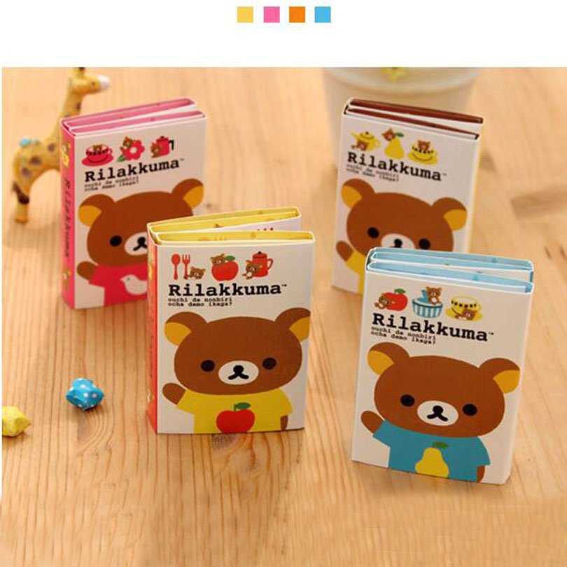 Paper Sticky Note 12pcs/lot New Cute Rilakkuma Bear Styles Notepad Note Gift Stationery Gt365 Limpid In Sight Memo Pad