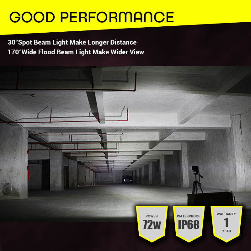 Image 5 - Led Light Bar Offroad 4x4 7 Inch 120W Led Work Lights for Tractors Spot Flood Combo Beam Triple Row Led Fog Lamp Driving Lights-in Light Bar/Work Light from Automobiles & Motorcycles