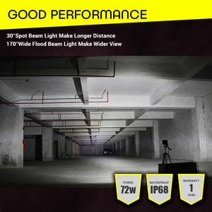 Image 5 - Led Light Bar Offroad 4x4 7 Inch 120W Led Work Lights for Tractors Spot Flood Combo Beam Triple Row Led Fog Lamp Driving Lights
