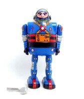 Do metal do vintage primavera vento brinquedos-brinquedos coleção de astronautas
