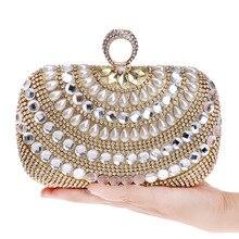 2016 neue Perle Diamanten Mini Einzelnen Frauen Umhängetasche Frau kupplung Frauen Abendtasche Handtasche Sac Ein Haupt Bolsas Feminina