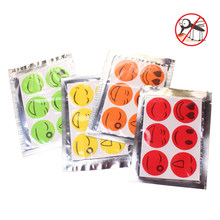 6pcs/bag Cute Smile Face Anti Mosquito Stickers DIY Mosquito Repellent Stickers Patches Set Dropshipping(China)