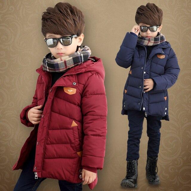 2017 зима детская одежда мальчики ватные куртки верхняя одежда хлопка-ватник утолщение ребенка молния теплый пиджаки