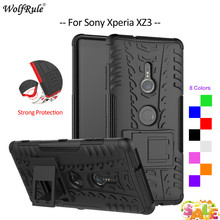For Cover Sony Xperia XZ3 Case TPU & PC Holder Armor Bumper Housings Phone Case For Sony Xperia XZ3 Cover Funda For Sony XZ3 6'' protective tpu pc bumper frame case for sony xperia z3 blue black