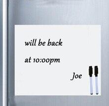 สมาร์ทบอร์ดไวนิลแม่เหล็กตู้เย็นไวท์บอร์ดแม่เหล็กแม่เหล็ก Office Memo Pad Home Planner Writing Board Organizer Notepad Marker