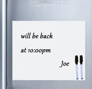 Image 1 - Smart Board Vinyl Kühlschrank Magnet Whiteboard Magnetischen Magneten Büro Memo Pad Hause Planer Schreibtafel Veranstalter Notizblock Marker
