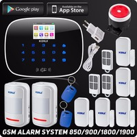 Kerui Wireless GSM Home Security Alarm ISO Android App Control SMS Text RFID Autodial TFT Color