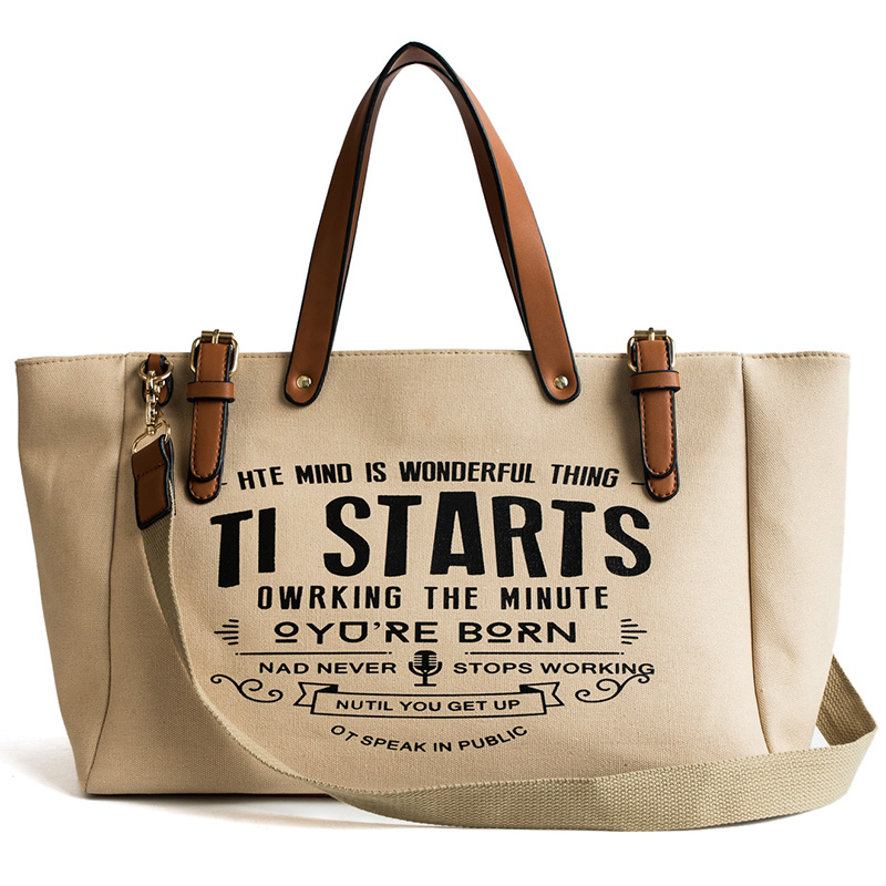 Luxury Ladies Bags Canvas Fashion Large Capacity Tote Bags Letter Shoulder Messenger Bags for Women 2018 Casual Tote Luis Vuiton 5
