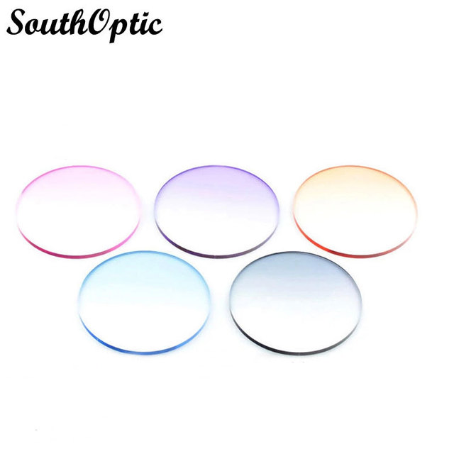 1.67 Gradient Colors and Tinted Colors Colorful Sunglasses With Free Lens Cut and Frame Fitting Service Presbyopia Myopia Lenses