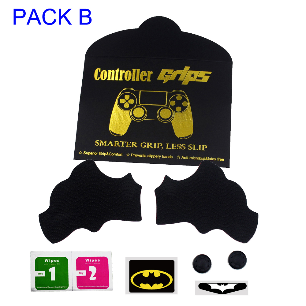 Anti-Slip Smarter Squid Hand Grip Sticker Anti-sweat Cover Grip For PS4 Slim Controller Joystick B Set
