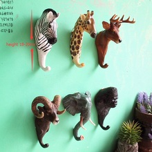 FoYi cafe bars restoring ancient ways stereo animals hanging wall deer head individuality creative decoration hook