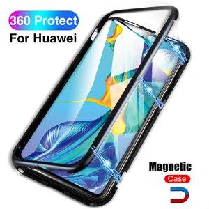 360 магнитный чехол для Huawei P30 Pro P30 Light P 30 жесткий стеклянный чехол для Honor 10 Lite Hawei P20 Y9 2019 Mate 20 Pro Coque