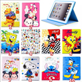 child cartoon fashion Mickey Mouse Leather cover case for ipad 2 ipad 3 ipad 4 stand smart Case for ipad A1460 A1459 A1458 A1416