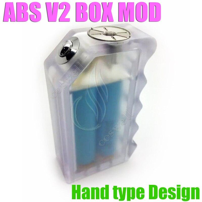 новейший АБС v2 мод коробка ясно цвет электронная сигарета коробка с пара коробка акриловые коробка АБС v2 в лучших в наличии бесплатная доставка