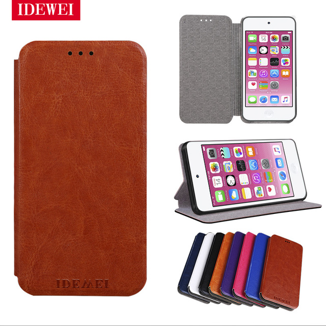 online retailer f11c9 92ff5 US $3.99 20% OFF|For coque Apple iPod Touch 5 Case stand Fundas Flip  silicone & Leather back skin for iPod Touch 6 Cover 4 inch phone funda  pouch-in ...