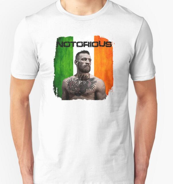 New Arrive 2016 summer The Notorious Conor McGregor UFC O-Neck T-Shirt Tees Men Women t shirt Funny Casual tee shirts tops
