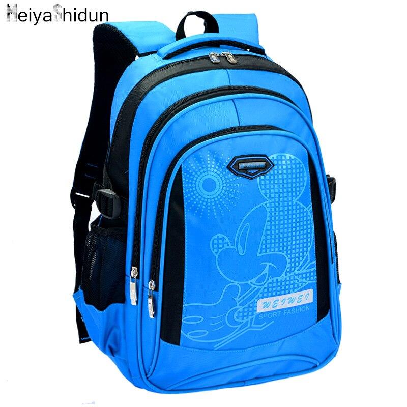 New Cartoon mickey children printing backpacks kids backpack school bag For Teenage girls boys Mochila Infantil sac a dos enfant