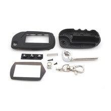 A91 dobrar aleta carro caso remoto Para starline A91 A61 B9 B6 uncut lâmina fob da tampa do caso + chaveiro de vidro frete grátis
