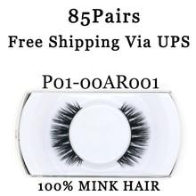 YADERS Free Shipping Via UPS 85 Pairs Lashes False Eyelashes 3D Mink Lashes with Eyelash Makeup Tools Fake Eyelashes AAAAH