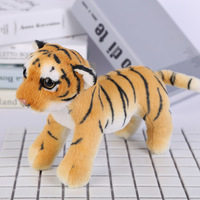 about 22cm yellow standing tiger plush toy cute tiger soft doll baby toy Christmas gift b1399