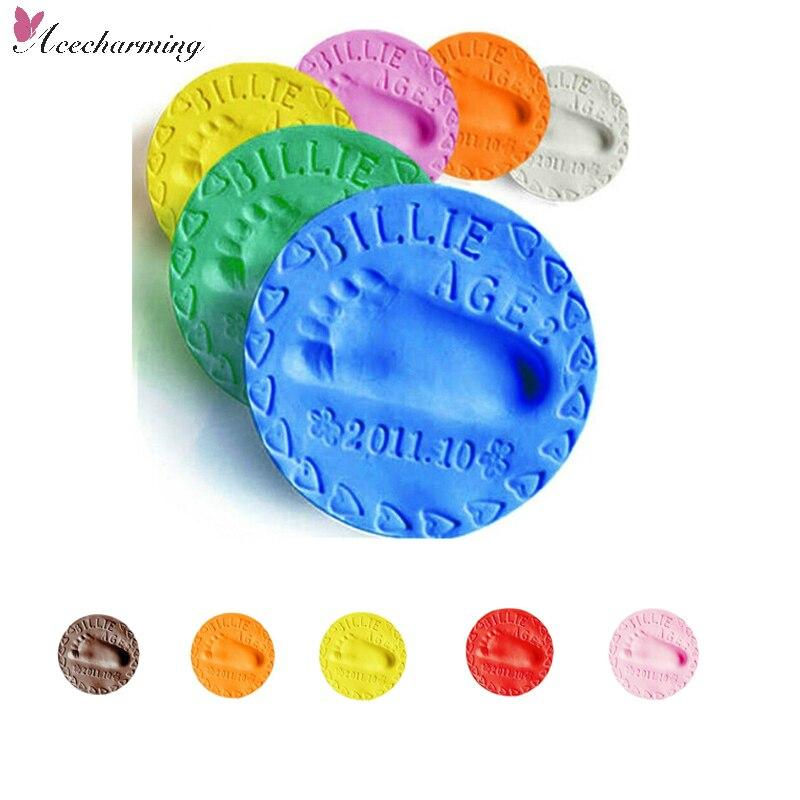Air Drying Clay Handprint Footprint Kit Imprint for Boys Girls Keepsake Blue
