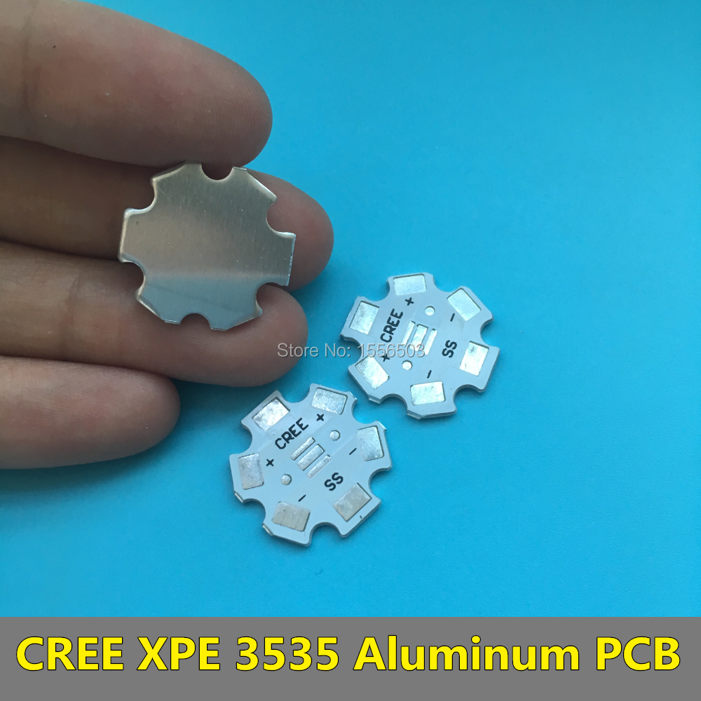 20 PCS CREE XPE 3535 LED Aluminum PCB Board 1W 3W cree LEDs SMD Heatsink plate 20mm empty PCB new passport holderstransparent silicone waterproof dirt cover size 9x13 1cm id cards business card credit card bank holders