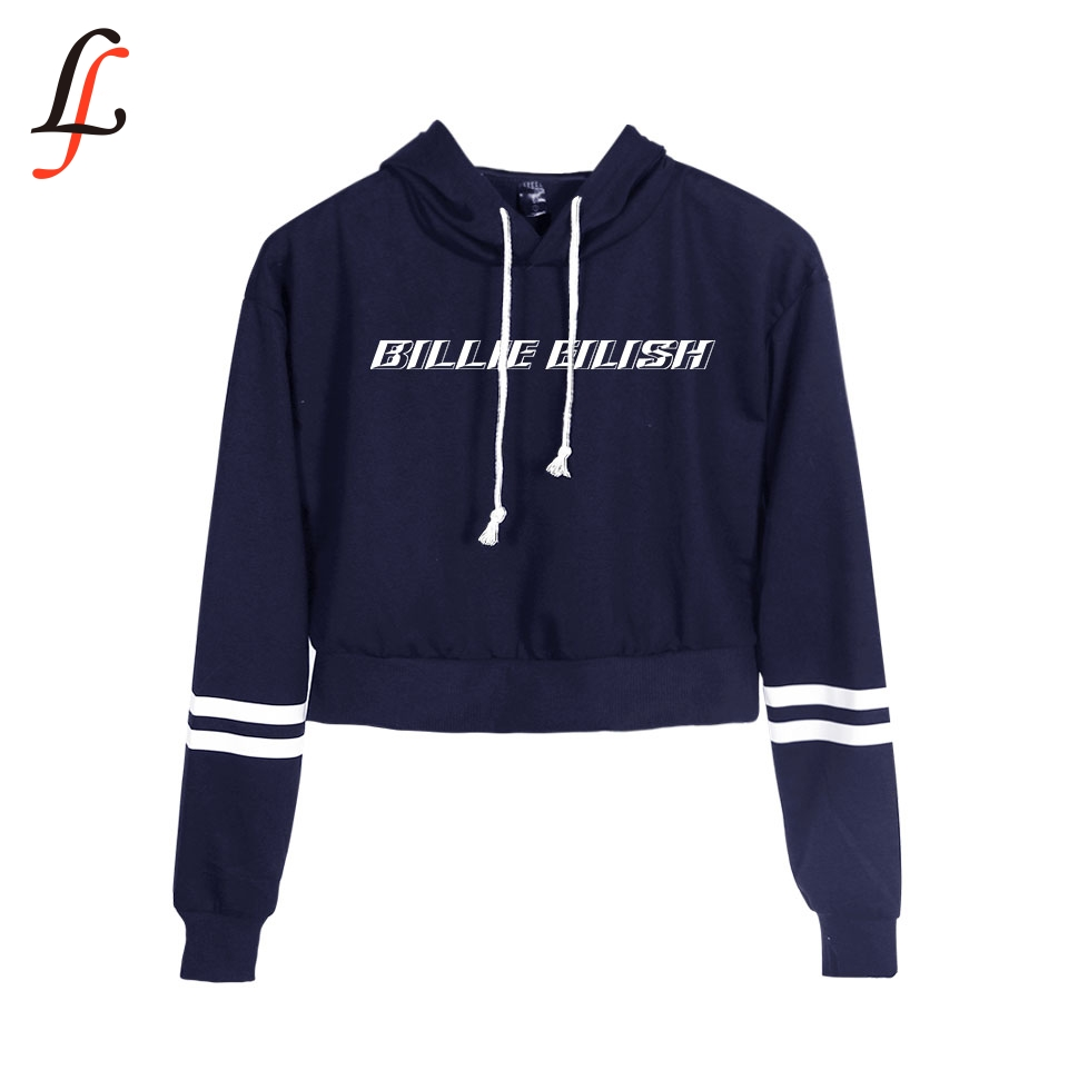 2019 New Billie Eilish Waist Cap Sexy Hoodies Fashion Trend  Crop Top Women Hoodies Sweatshirt Harajuku Sexy Hot K Pop Clothes