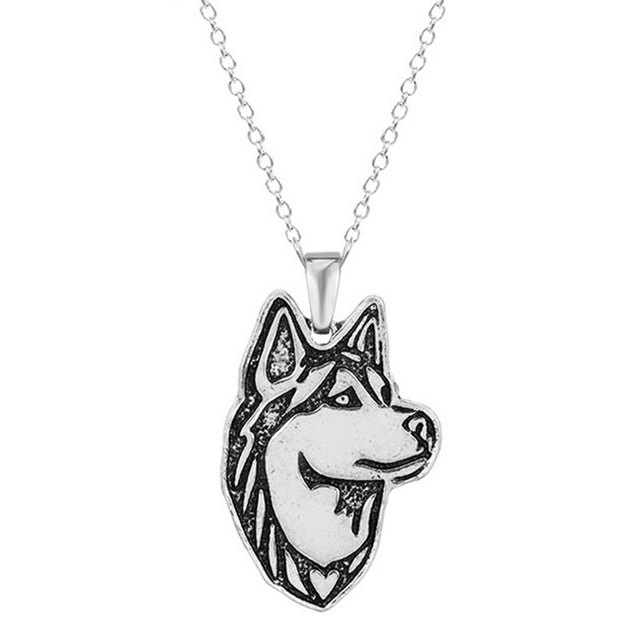 10pcs siberian husky necklace dog pendant necklaces animal charm christmas gifts for pet lovers dog jewelry